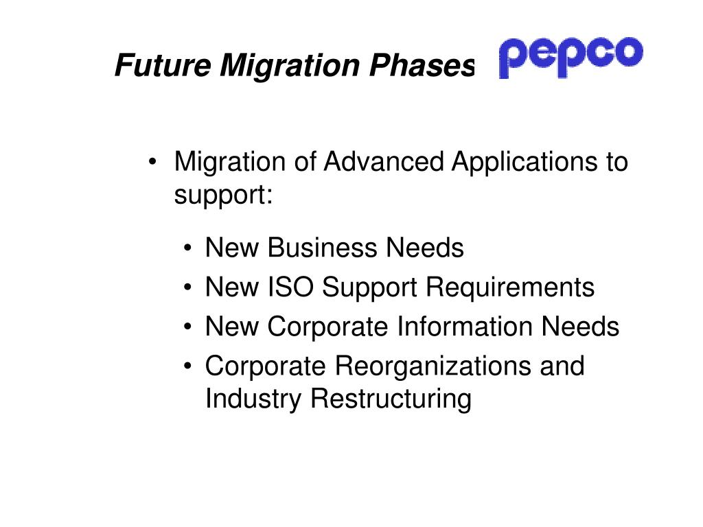 Future Migration Phases