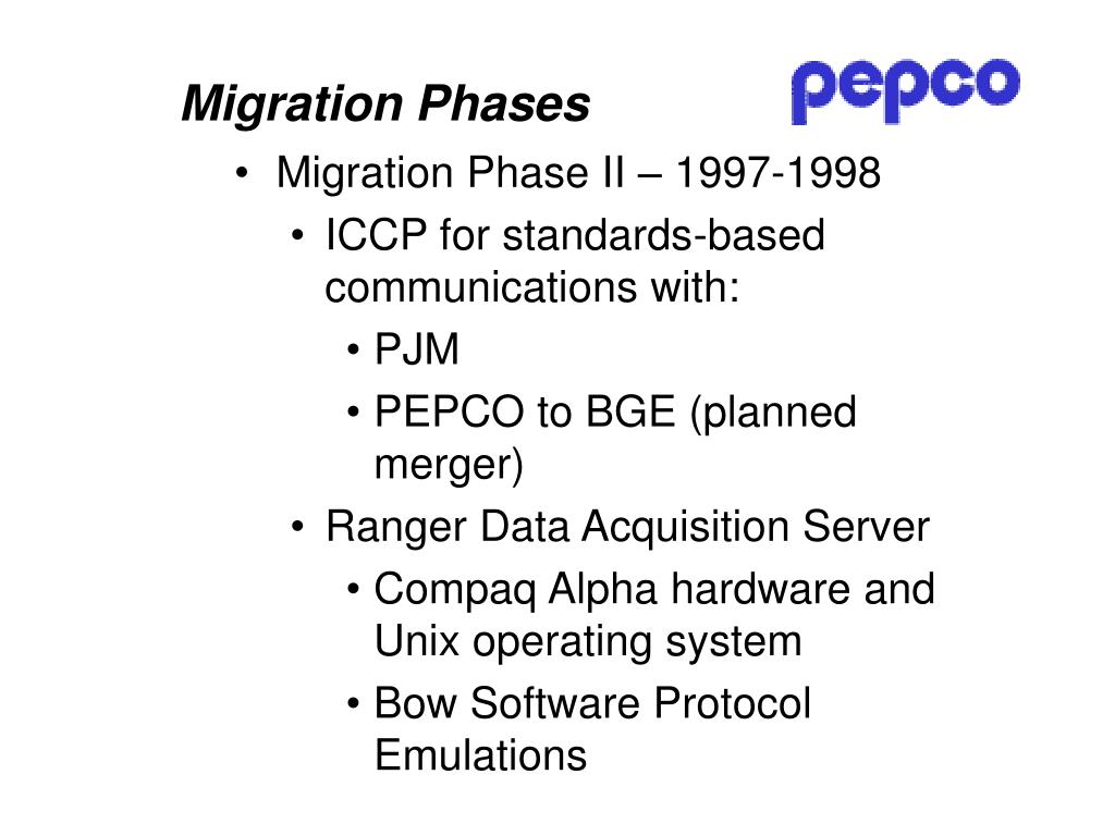 Migration Phases