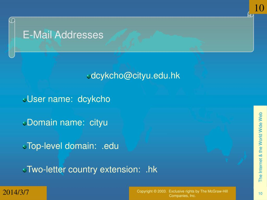 E-Mail Addresses