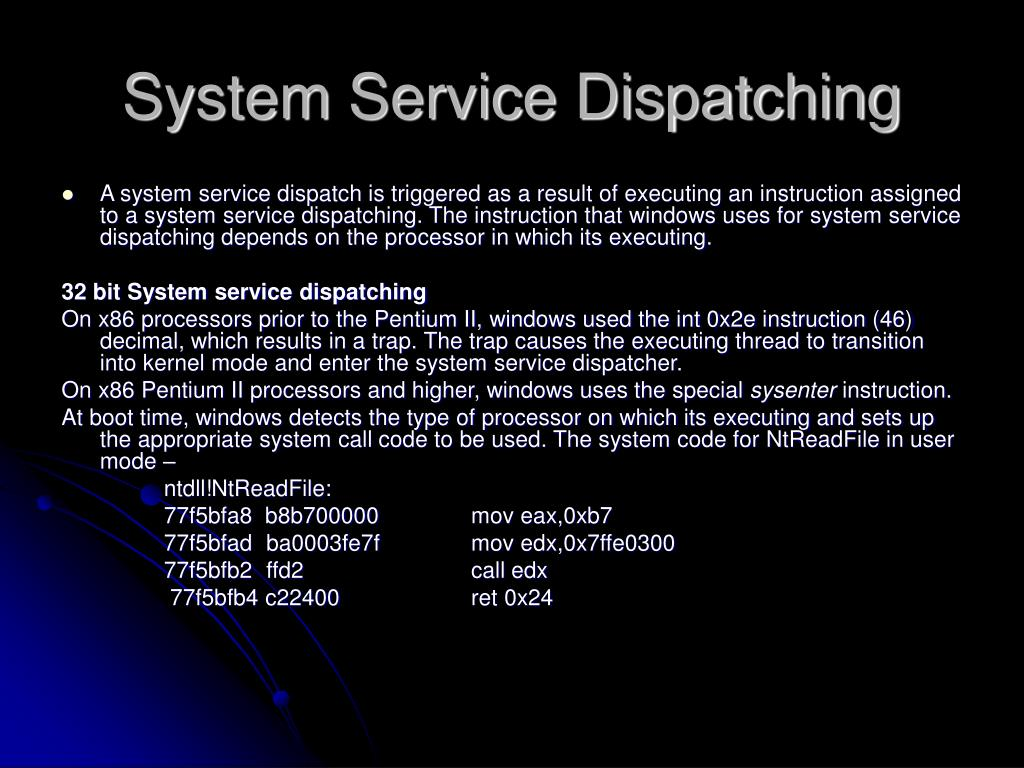 System Service Dispatching