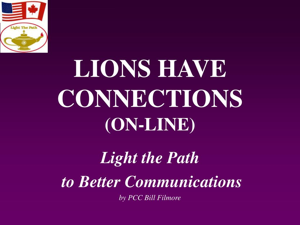 lions have connections on line l.