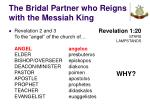 the bridal partner who reigns with the messiah king21