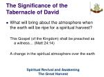 the significance of the tabernacle of david34