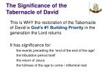 the significance of the tabernacle of david40