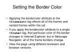 setting the border color33