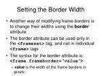 setting the border width