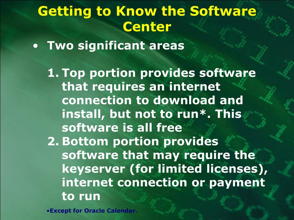 Getting to Know the Software Center