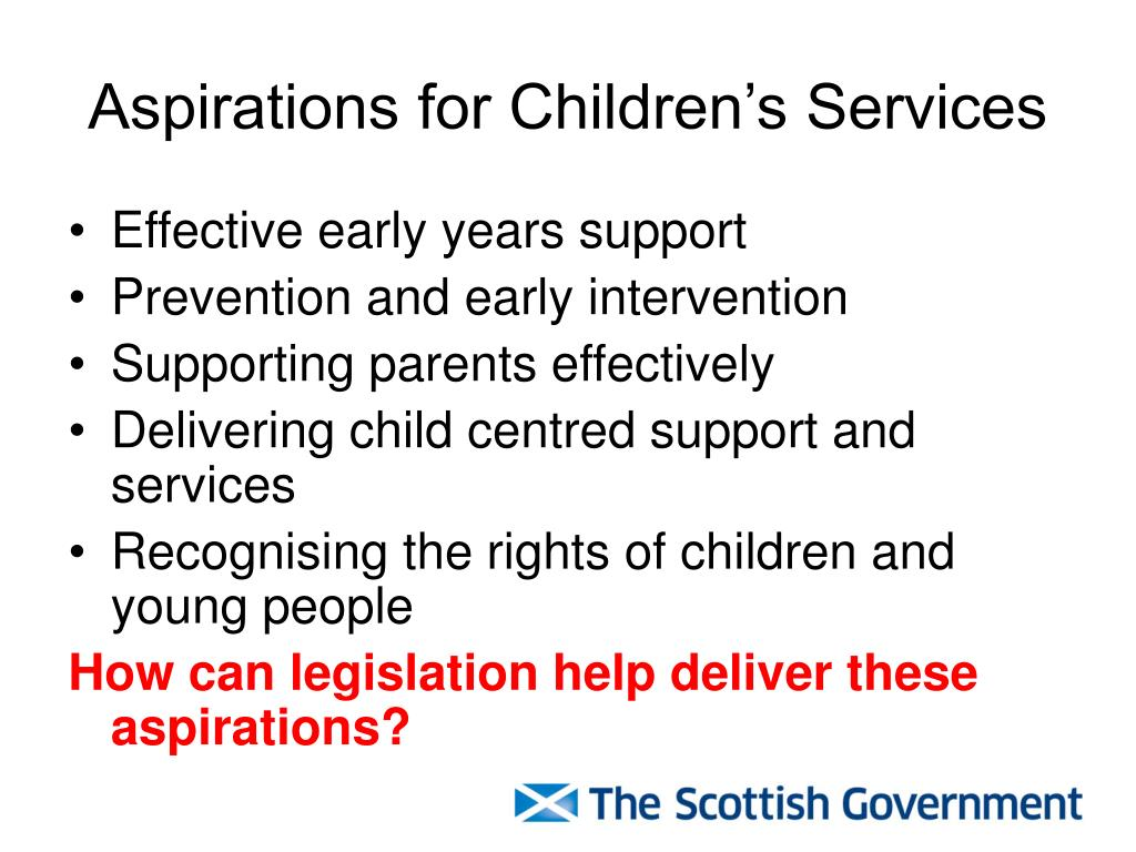 Aspirations for Children's Services