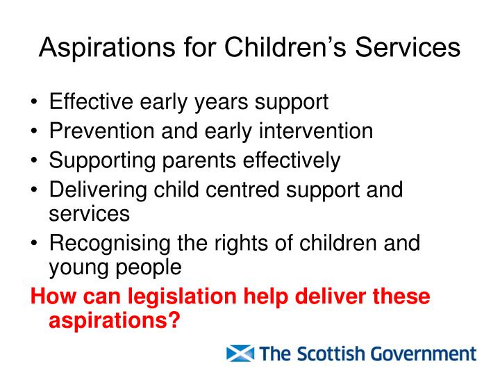 Aspirations for children s services