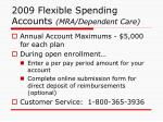 2009 flexible spending accounts mra dependent care6