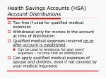 health savings accounts hsa account distributions
