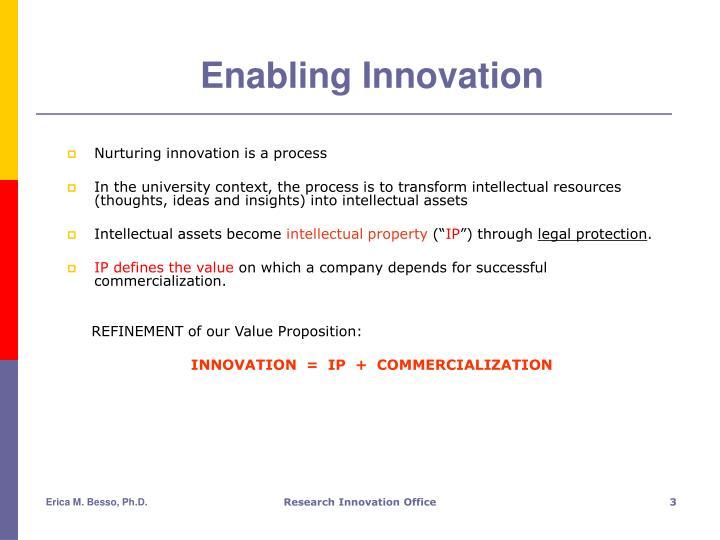 Enabling innovation