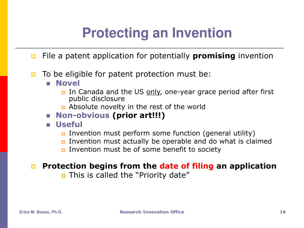Protecting an Invention