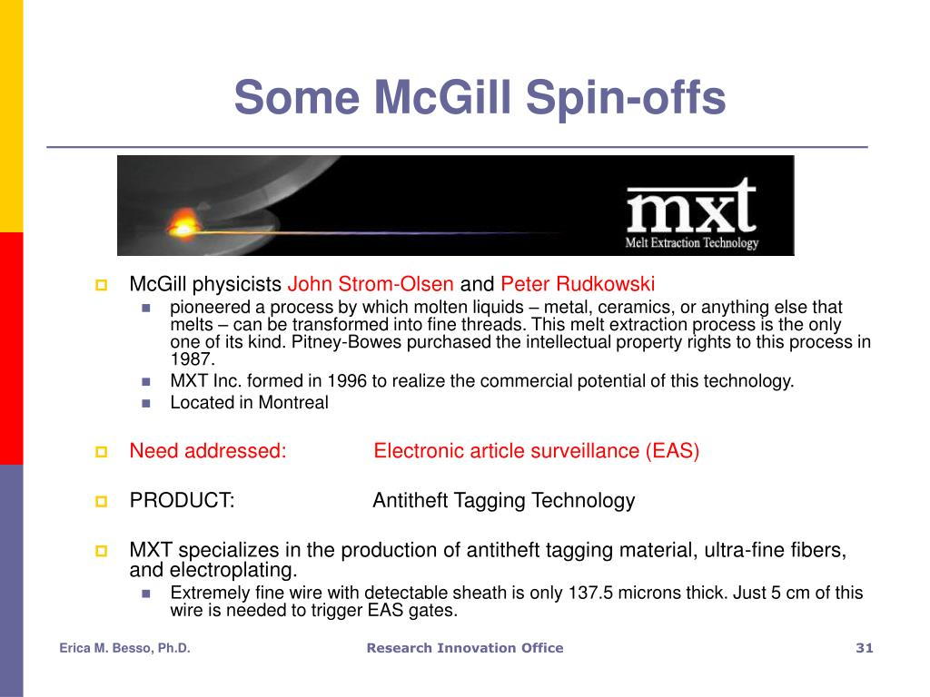 Some McGill Spin-offs