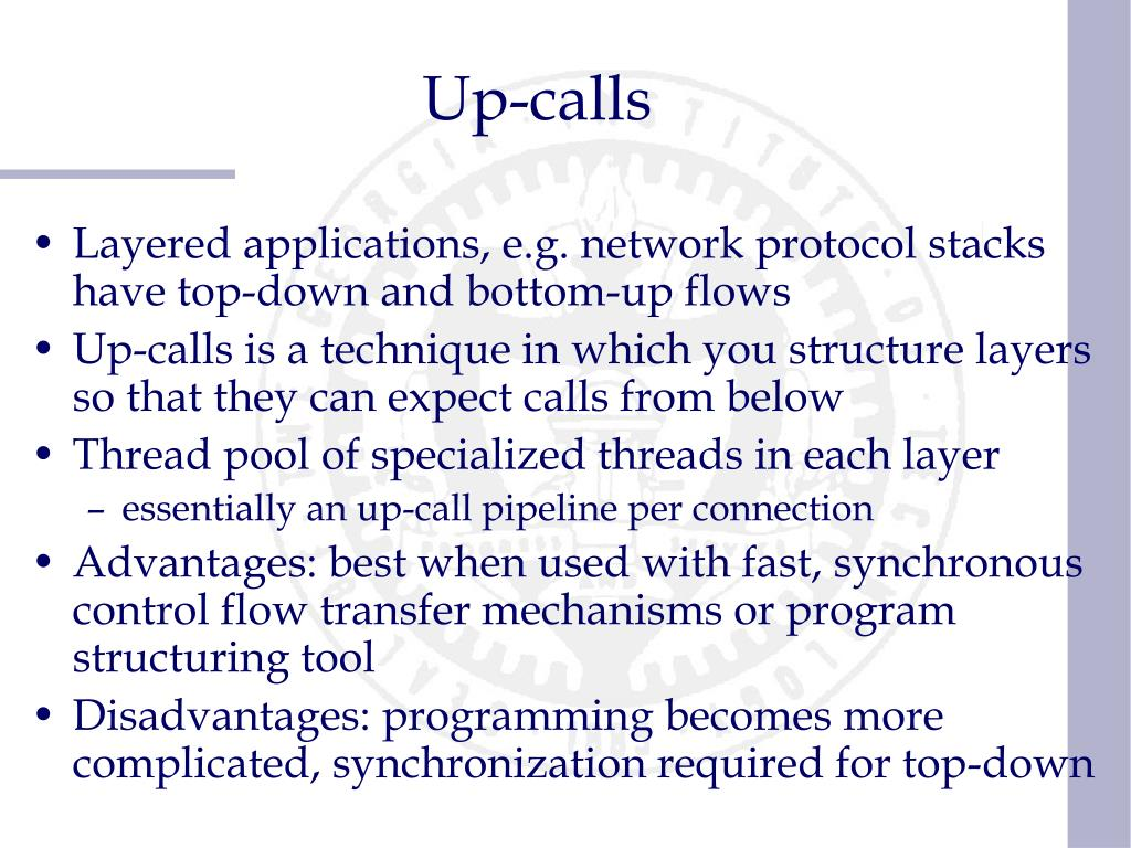 Up-calls