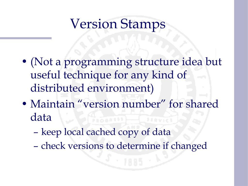 Version Stamps