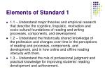 elements of standard 1