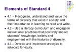 elements of standard 4