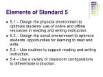 elements of standard 5
