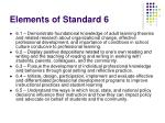 elements of standard 6