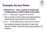 example across roles