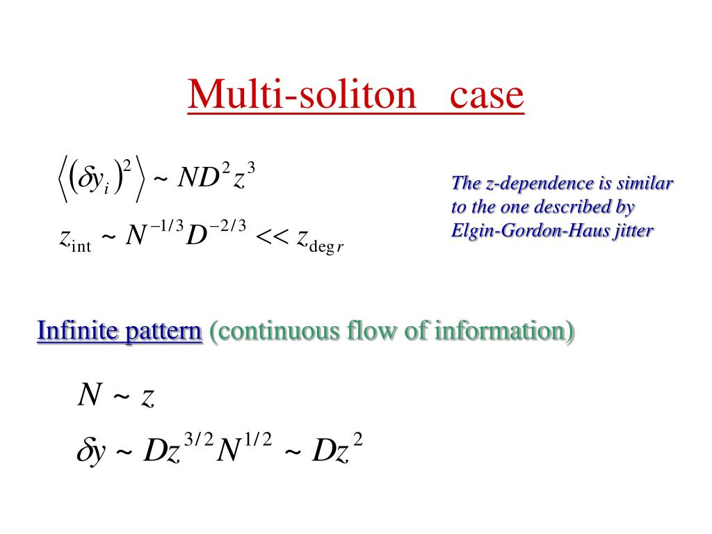 Multi-soliton   case