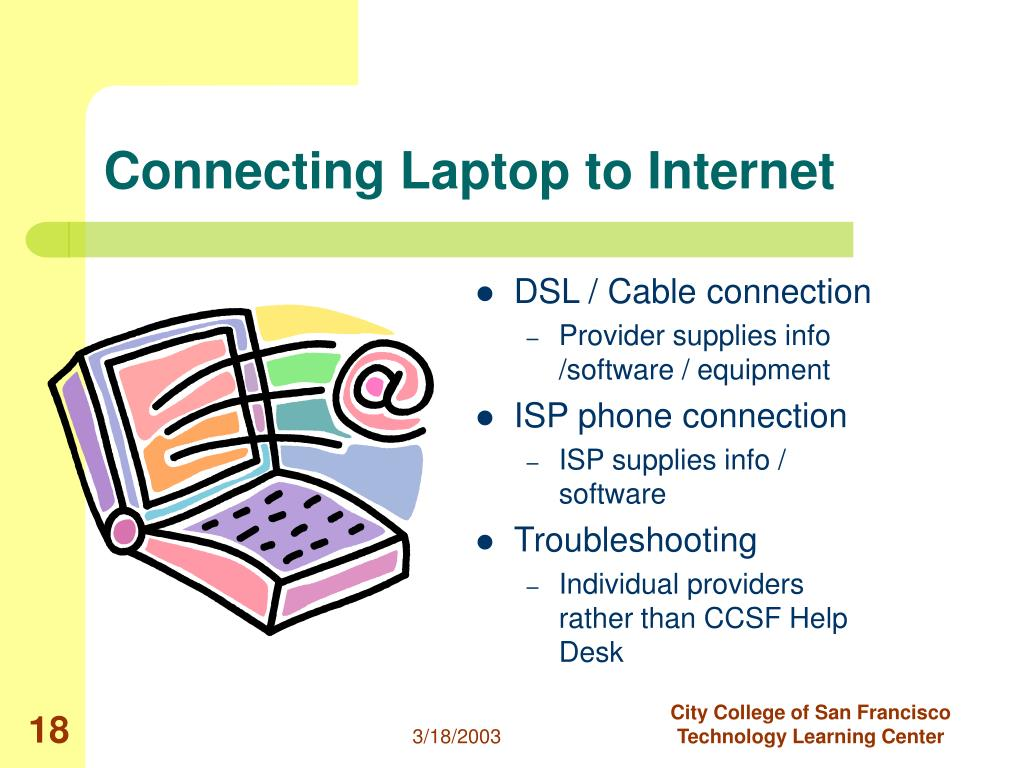 Connecting Laptop to Internet