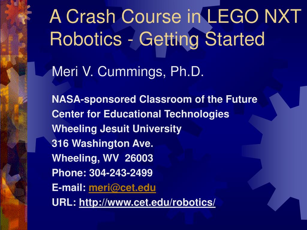 a crash course in lego nxt robotics getting started l.