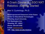 a crash course in lego nxt robotics getting started