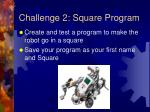 challenge 2 square program