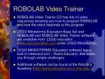 robolab video trainer