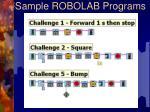 sample robolab programs