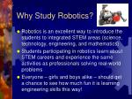 why study robotics