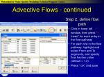 advective flows continued
