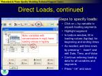 direct loads continued