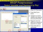 wasp postprocessor select variable and segment to plot