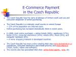 e commerce payment in the czech republic