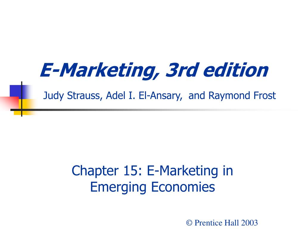 e marketing 3rd edition judy strauss adel i el ansary and raymond frost l.