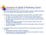 overview of global e marketing issues