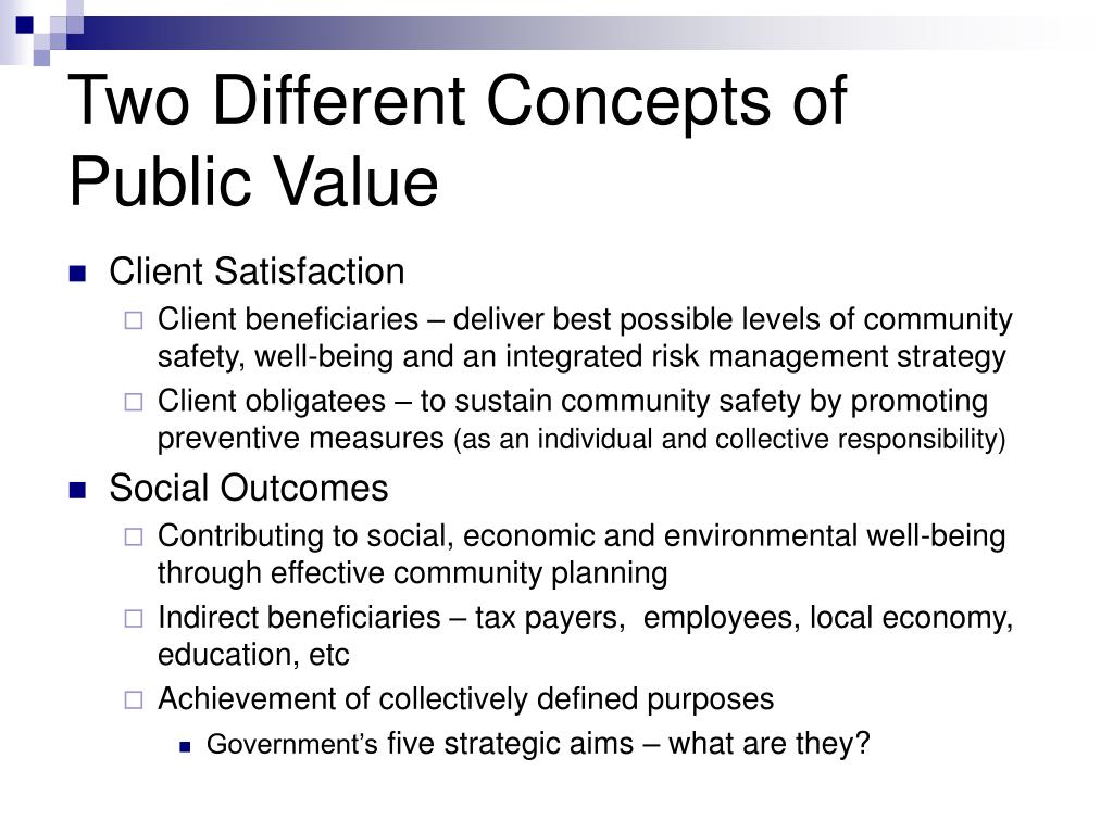 Two Different Concepts of Public Value