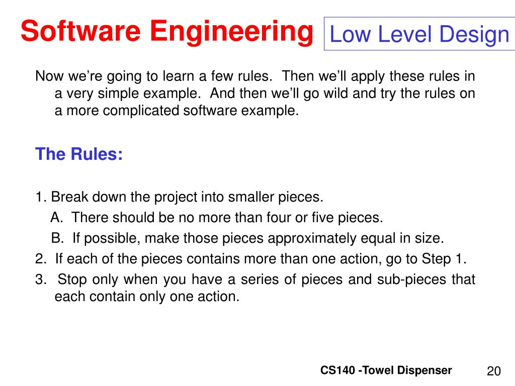 Low Level Design