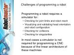 challenges of programming a robot13