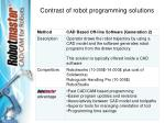 contrast of robot programming solutions20