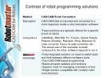 contrast of robot programming solutions21