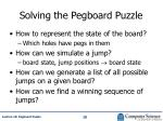 solving the pegboard puzzle