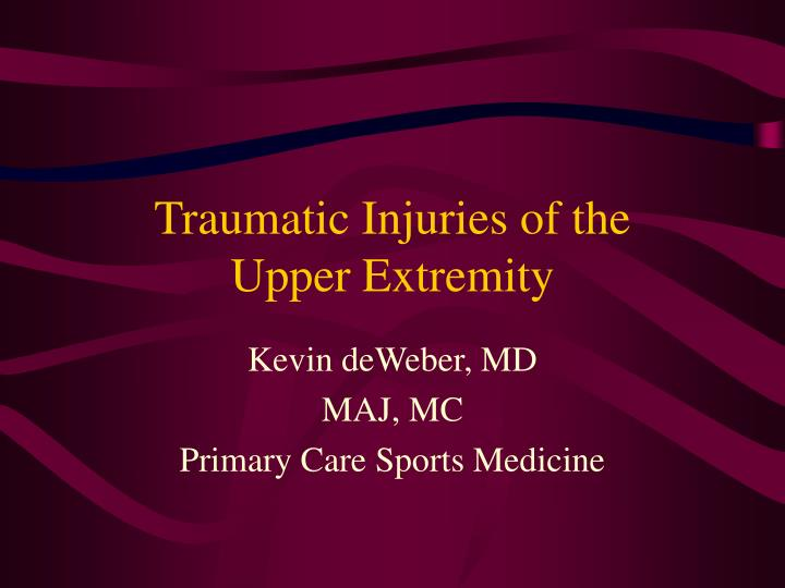 traumatic injuries of the upper extremity n.