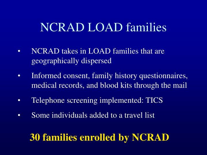 NCRAD LOAD families