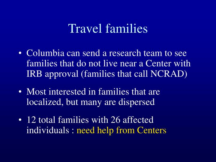 Travel families