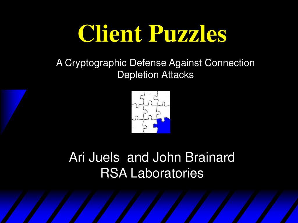 client puzzles l.