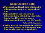 keep children safe